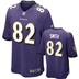 Baltimore Ravens - T. Smith #82 Home Jersey