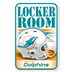 Miami Dolphins - Locker Room Sign WH